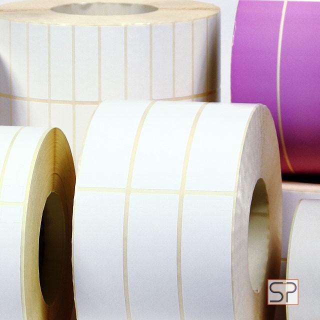 Самоклеящиеся этикетки полуглянцевые бумажные